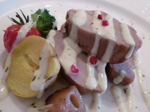 豚ひれ肉のグリル ビネグレットソース